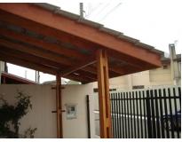 coberturas com estrutura de madeira no Imirim