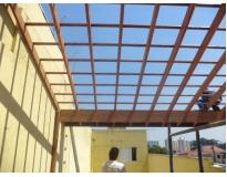 estrutura de madeira no Jaguaré