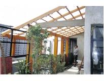 estruturas em madeira em Santo André