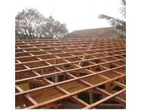 fabricação de estrutura de madeira na Ponte Rasa