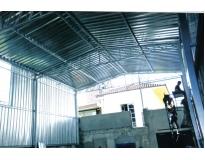 fechamento lateral com telha de aço preço na Pedreira