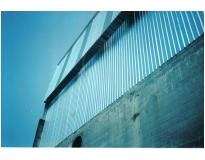 fechamentos laterais com telhas de aço na Saúde