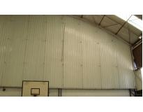 fechamentos laterais com telhas metálicas na Penha