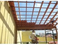 orçamento para estrutura de madeira na Vila Carrão