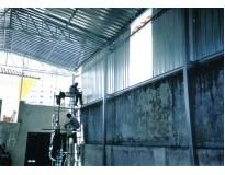 orçamento para fechamento lateral com telhas metálicas em Moema