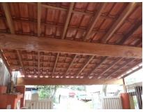 orçamento para telhado com estrutura de madeira em Santo André